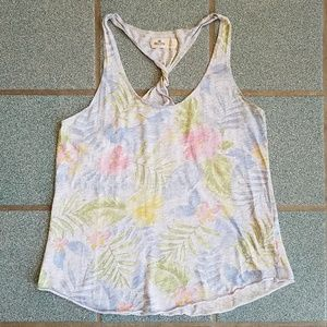 Hollister Tropical Floral Racerback Tank Top S